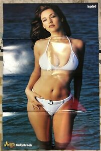 """KELLY BROOK - BRITAIN'S MOST WANTED 2003 - GIANT DOUBLE SIDED POSTER 35"""" X 23"""""""