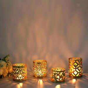 Creative Gold Candle Holders Candlestick Stand Table Ornaments Party Decor