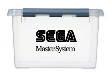 4x sml SEGA MASTER SYSTEM Logo Vinyl Stickers Decals idea for games storage box