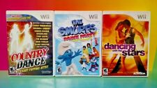 Country Dance, Smurfs Dance Party, Dancing with Stars Nintendo Wii Wii U 3 Games