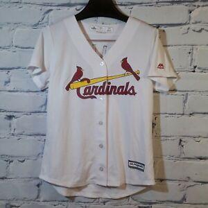 Majestic MLB St Louis Cardinals CoolBase Jersey Yadier Molina #4 Youth Sz M