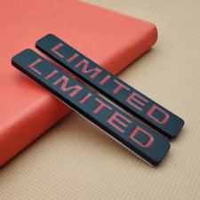 2Pcs Metal Black LIMITED Car Emblem Body Fender Auto Badge Trunk Sticker Decal