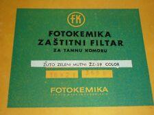 Dunkelkammer - Schutzfilter Gelbgrun Matt Žutozeleni FOTOKEMIKA Zagreb Croatia