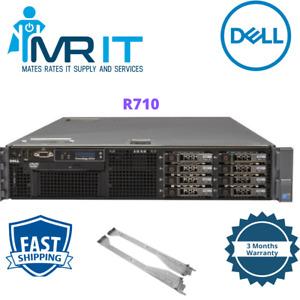 Dell PowerEdge R710 2x Intel Xeon X5650 @2.66 GHz 6 CORE 64GB RAM Rails Included
