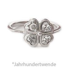 Sterling Silber Ring Kleeblatt Cubic Zirkonia Herz silver ring shamrock 🍀🍀🍀