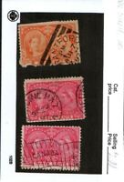 Canada Stamps, Jubilee Issues, Lot of 3- Flag, Brantford, Medicine Hat cancels