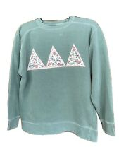 Tri Delta Comfort Colors S Teal Sorority Sweatshirt Preowned Floral Design