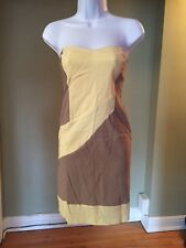ASOS YELLOW AND TAN STRAPLESS DRESS US SIZE 14 UK SIZE 18 NWT