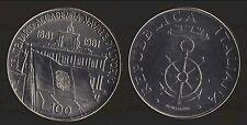 ITALIA REPUBBLICA 1981 100 LIRE COMMEMORATIVA ACCADEMIA NAVALE DI LIVORNO