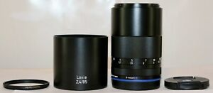 Zeiss Loxia 85mm F/2.4 Sonnar T* (for SONY E mount) + Hood & B+W Filter MINT