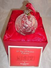 Waterford Crystal 12 Days of Christmas Commemorative Ball Ornament Partridge