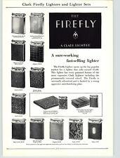 1920s PAPER AD Clark The Firefly Cigarette Lighter Snake Skin Leather Signet