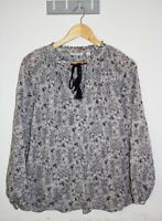 Country Road Blouse Size L Long-sleeve Floral Print Crew Neck Cotton