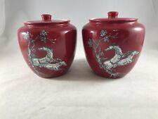 Crown Devon Fieldings Red & White Pegasus Horse Bulbous Pottery Vase Ginger Jar
