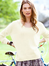 NEW VICTORIA'S SECRET 100% Cashmere Ivory Boxy Sweater Pullover sz M $158
