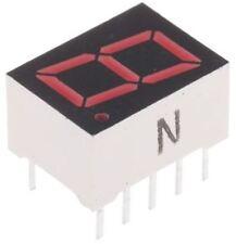ROHM LA-401VD 7-Segment LED Display, CA Red 16 mcd RH DP 10.2mm