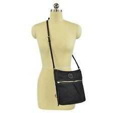 Tory Burch Ella Nylon Swingpack Crossbody Bag in Black