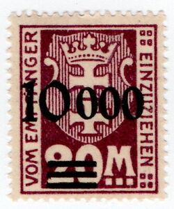 (I.B) Germany Revenue : Receipt 10000M on 20M OP (Danzig)