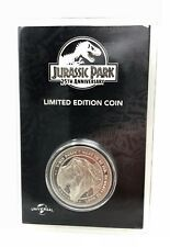 """Jurassic Park 25th Anniversary Coin Silver Plated """"T-Rex Fed"""" Limited Edition"""