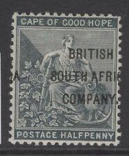 RHODESIA SG58 1898 ½d GREEN MTD MINT
