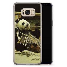 Samsung Galaxy S8 Plus - Hard Case Hülle - Cooler Panda Motiv Design Tiere Lust