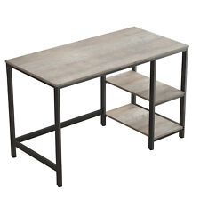 Computer Desk Writing PC Study Table Office with 2Shelves PC Home Office LWD47MB