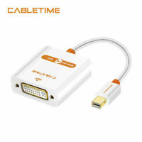Cabletime Mini Displayport to DVI Cable Male to Female Adapter Thunderbolt 20cm