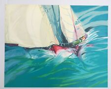 CLAUDE HEMERET FRENCH ARTIST ORIGINAL LIMITED EDITION LITHOGRAPH SAILING SIGNED