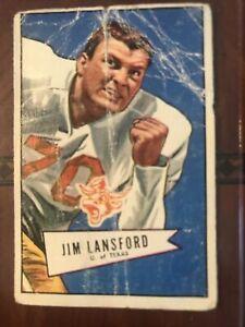 1952 Bowman Large #144 Jim Lansford POOR!authentic (ungraded) Dallas Texans **