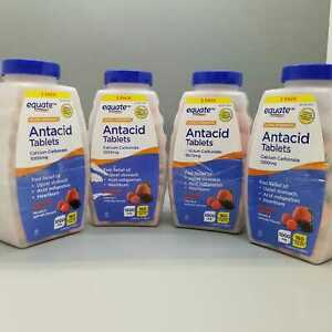Equate Ultra Strength Antacid 1000 mg 160 Tablets Assorted Berries 4PK Exp 3/22+