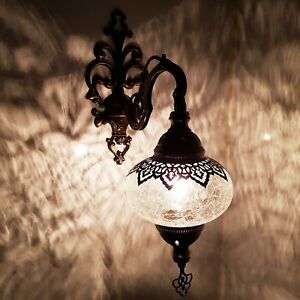 Turkish Moroccan Wall Light Glass Cracked Glass Style Ottoman Lamp Electric