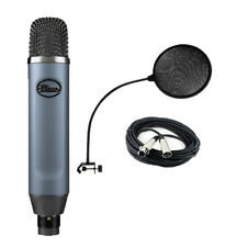 Blue Ember XLR Condenser Mic For Recording and Streaming,Pop Filter, XLR Cable