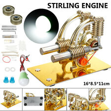 Stirling Engine Hot Air Model Motor Educational Tool Projects Double Heat Engine