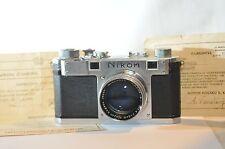 Nikon S Rangefinder RF camera Nikkor 5cm lens set Nippon Kogaku Guarantee cards