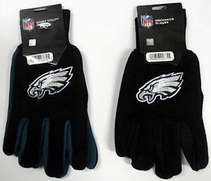 NWT NFL Philadelphia Eagles No Slip Gripper Utility Work Gloves W/ 3D Team Logo