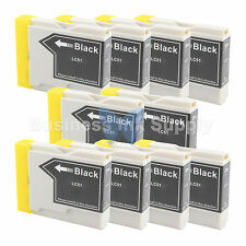 10 BLACK LC51 Ink Cartridge for Brother MFC-685CW MFC-465CN MFC-885CW LC51BK