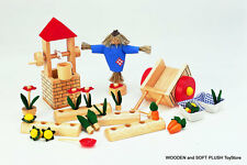 VOILA TOY childs kids wooden FARM ACCESSORIES dolls house pretend play BRAND NEW
