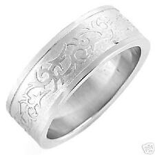 Gents Stainless Steel Celtic Band Ring-8.30g-Size 10.0