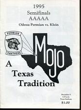 1995 Texas State AAAAA Semi Final Game Program Odessa Permian v Klein Dec. 9