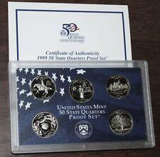 1999 U.S. Mint Made STATE QUARTERS Proof Set in original BLUE box
