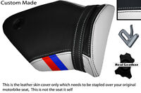 BLACK & WHITE WITH CUSTOM M3 STRIPE FITS BMW S 1000 RR 09-13 REAR SEAT COVER