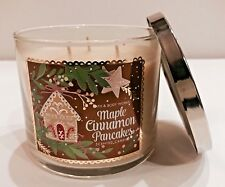 BATH & BODY WORKS MAPLE CINNAMON PANCAKE SCENTED 3 WICK CANDLE 25-45 HOURS NEW!