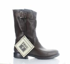 Frye Womens Natalie Mid Engineer Charcoal Fashion Boots Size 7.5 (1345797)