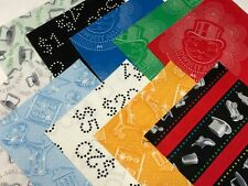 """40 5"""" Quilting Fabric Squares  PreCut Quilting Charm Pack Play Monopoly"""