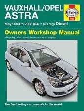 Haynes Owners Workshop Manual Holden Astra Diesel (04-08) SERVICE REPAIR