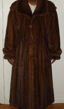 """Men's 50"""" Long NEIMAN MARCUS Mahogany Mink Fur Coat Size 46-48 Excellent Conditi"""