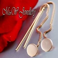 925 Sterling Silver Rose Gold Plated Earrings Threader CIRCLES