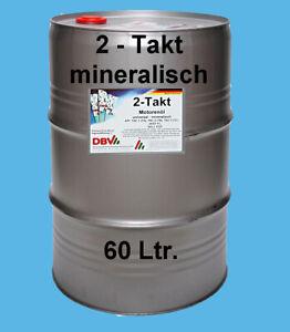 (EUR 3,60/L) 60L Zweitaktöl 2-Takt Öl mineralisch raucharm API TC JASO FB