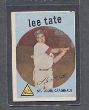 1959 Topps #544 Lee Tate (Cardinals)  G-Vg  (Flat Rate Ship)  A1