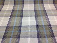 Porter+Stone Tartan Plaid Check BALMORAL Wool Effect Upholstery/Curtain Fabric